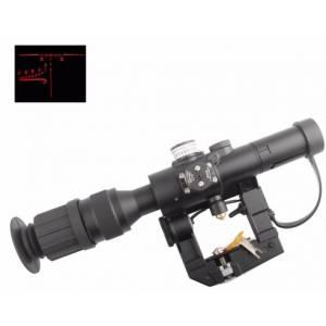OT Lunette  Dragunov SVD 4x26 mm avec réticule lumineux