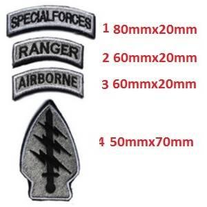 Patch  logo us air force ( gris)