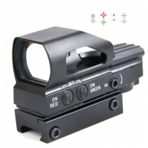 OT  1x23x34mm reflex Dot  caréné  multi réticule rouge et vert