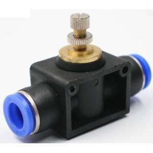 Raccord avec reglage de pression de 0 a 10 bar pour  tuyaux 8mm