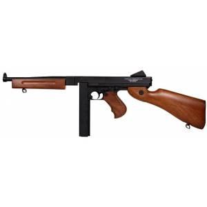 Cybergun THOMPSON M1A1  imitation bois(marquage blanc)