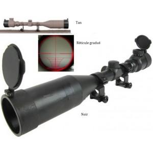 OT  Lunette viséé 3-9x50mm +  rallonge +clapet avec reticule lumineux rouge