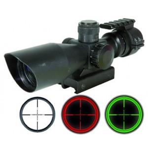 Swiss arms lunette compact 3-9x40mm  réticule lumineux  rouge et vert et  rail  au dessus integré