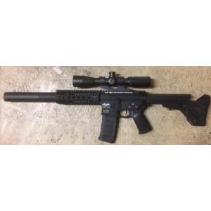 """Custom AR-15 """"Walking Dead"""" full upgarde+sac+lunette sa 3-9x42mm"""