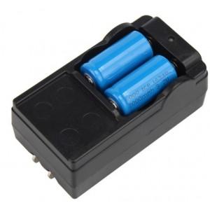OT chargeur  lion + 2 pile 3.7v cr123a rechargeable
