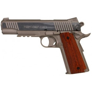Pistolet Colt 1911 Rail Gun Stainless Co2 GNB culasse metal
