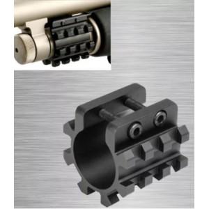 OT triple  rail 20mm pour  canon cylindrique 30mm ou pompe  m870,m500